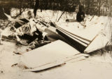 0488  COPY PHOTOGRAPH  This is a plane crash that Joshua Saslove,  CQ, owner of Joshua & Co....