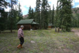 Charlotte Trego (cq) walks through her 30-Mile Resort, Tuesday afternoon, August 28, 2007, in...