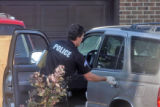 Denver Police investigateat vehicle at 6100  West Yale Avenue  in the driveway of a home owned by...
