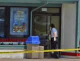 Arvada Police continue their investigation of a homicide at a Burger King  12580 West 64th Avenue...