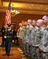 Posting of the Colors at a homecoming ceremony for  members of the 169th Fires Brigade Colorado...