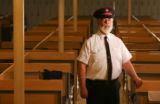 Portrait of Salvation Army Maj. Neal Hogan at the Salvation Army Crossroads Shelter in Denver,...