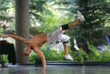 B-Boy Zen One, aka Ron Wood (cq), of Philadelphia, from Break!, a hip-hop dance troupe from New...