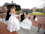 (Denver, Colo., July 21, 2007) After an hour's rain delay, debutantes queued in the Fine Arts...