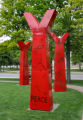 "Y for the alphabet story, from the art piece entitled ""Wheel, 2005"" installed outside..."