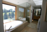 An interior bathroom view of the 7000-square foot home of Ron and Jane McMahan. They made an...
