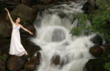 Portrait of Shelby Dyer, of the Colorado Ballet, at Chicago Creek near Mt. Evans., Colo., on...