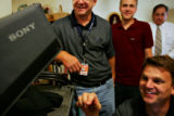 The production crew, from left, Patrick Jordan, (cq), Anthony Sagan (CQ), Garron Bateman (cq -...