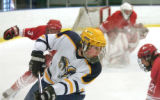 Rampart High School's Donald Geary in action against Regis High School Monday afternoon, Jan. 30,...