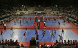 Pool play for Girls State Volleyball Tournament  got under way, Friday morning, November 11, 2007,...