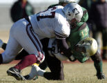 SATURDAY NOVEMBER 24TH, 2007 photo by Kirk Speer.  Palisade High School's Caleb Sisneros (#67)...