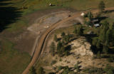 MJM1059  The remains of a house and its foundation is seen from the above La Plata County.  The...
