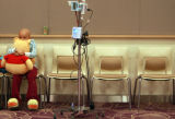 DM1021   Michelle Arrellanes, 6, of Aurora hugs a Pooh Bear that was delivered to her at...