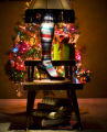 Based on the lamp from the movie A Christmas Story, The photographer recreated the lamp making a...