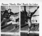 Rocky Mountain News clipping from the 1954 Denver University football season. Four distinguished...