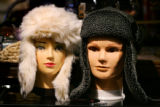 Eat!Drink!Shop! in Estes Park on November 29, 2007.  Cozy and practical aviator bomber hats--a...