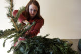 1. How to make a wreath with Denise Capelli at Capelli Floral:  Cut different types of greens of...