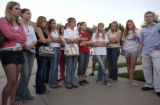 (BEATRICE, Nebraska, September 9, 2004) This group were all classmates of Samantha Spady at...