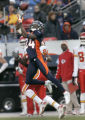 1078 Denver Broncos #24 Champ Bailey gabs an interception against the  Kansas City Chiefs in the...