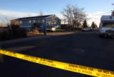 Denver Police investigate the scene of a deadly shooting which happened in the apartment...