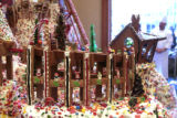 Executive Chief Kevin Goodwin, admires his holiday gingerbread house, Tuesday morning, November...