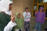 (NYT80) MINNEAPOLIS, Minn. -- Nov. 27, 2007 -- MUSLIMS-GIRL-SCOUTS-3 -- From left, troop leader...
