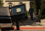(BEATRICE, Nebraska, September10, 2004) The casket has been placed in the hearse after the...