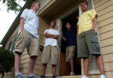 (BOULDER, CO., SEPTEMBER 8, 2004) Neil Sage, Tom Seeberg, Mark Brinker and Daniel Zoltani all...