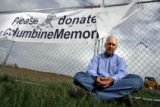CODER106 - Brian Rohrbough stands in front of the future Columbine Memorial being built at Robert...