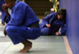 Grace Ohashi, 18, during practice at the OLYMPIC TRAINING CENTER in Colorado Springs, Colo., June...