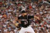 (DS-b-036) - Colorado Rockies pitcher Josh Fogg delivers a pitch in the top of the fifth inning....