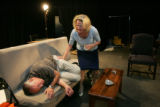 Two of Denver's best actors, Sam Gregory (cq)  left, and Martha Harmon Pardee (cq), rt, are...