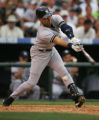 (JOE494) - New York Yankees Derek Jeter strikes out on a pitch from Colorado Rockies reliever...