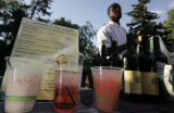 Signature drinks named in honor of the pachyderm portion of the zoo at the Denver Zoo, in Denver,...