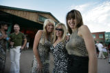 In front of the Lion's Lair, Holly Kylberg, (cq) Jana Olsen (cq)  and Angela Brocksmith (cq) (l-r)...
