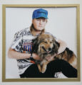 "161 COPY PHOTOGRAPH of John ""Skip"" Lords with his dog Bear taken just months before his..."