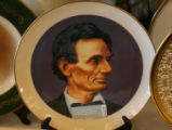 Item # 207 - Pickard Abraham Lincoln Plate, on display before the Presidential Ford Auction,...