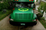 """The Big Green Bus"", a fry-grease powered bus, and eleven students from Darmouth College..."