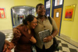 (NYT16) NEW YORK -- June 23, 2007 -- NY-HS-GRADS-2 -- Cristal Pimentel and Queen Bond worked as a...