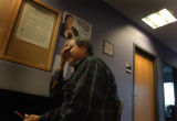 (9/29/04, Denver, CO)  Enrique Castillo, from Denver, applies for food stamps at the office on...