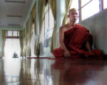(NYT60) YANGON, Myanmar -- Oct. 23, 2007 -- MYANMAR-MONKS-2 -- One of the few remaining monks...