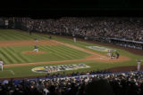 [432} Colorado Rockies, Josh Fogg, throws the first pitch as the Rockies  take on the Boston Red...