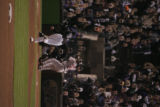 [625} Colorado Rockies starting pitcher Josh Fogg, pitches to Boston Red Sox, Manny Ramirez in the...