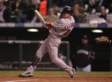 [2452]  Boston Red Sox Jacoby Ellsbury swings in the sixth inning of Game 3 of the World Series on...