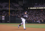 [3040]  Colorado Rockies Matt Holliday trots around the bases after hitting a homerun in the sixth...