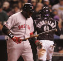 [2475]  Boston Red Sox batter David Ortiz reacts to striking out in the sixth inning of Game 3 of...