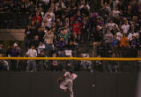 [5102]  Boston Red Sox Manny Ramirez tries to catch up to a double hit by Kaz Matsui in the third...
