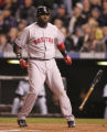 [5385]  Boston Red Sox David Ortiz throws his bat in reaction to popping up to Colorado Rockies...
