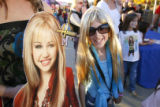 DM1089   Dressed as Hannah Montana Brooke Klenin, 10, of Lonetree stands in  outside the Pepsi...
