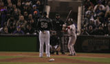 [1728} Colorado Rockies  Boston Red Sox inning of Game 3 of the World Series at Coors Field in...